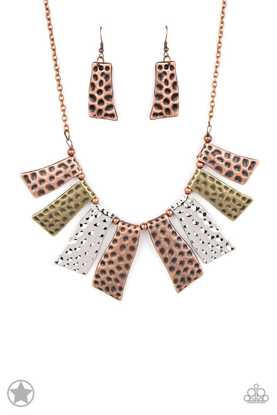 A Fan of the Tribe Paparazzi Necklace-Multi