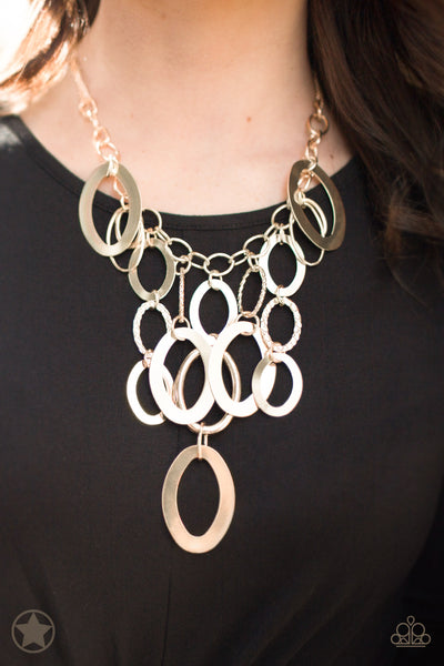 A Golden Spell Paparazzi Necklace-Gold