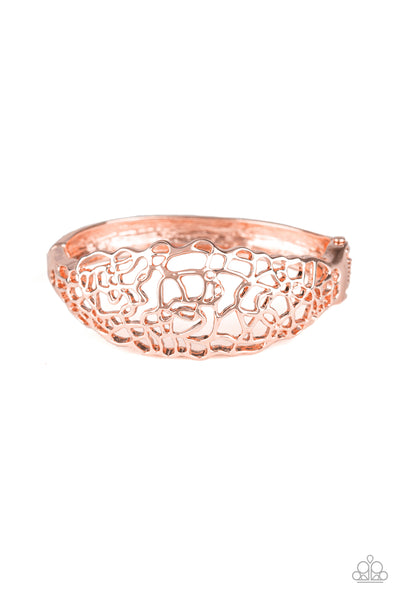 Airy Asymmetry Paparazzi Bracelet-Rose Gold