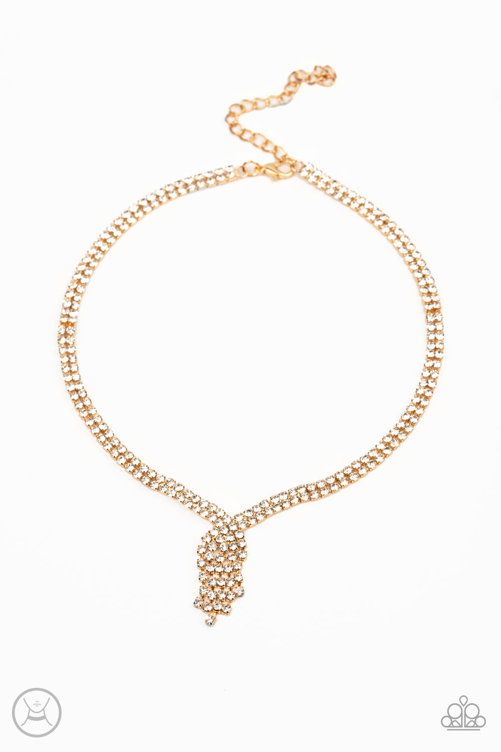Ante Up Paparazzi Necklace-Gold