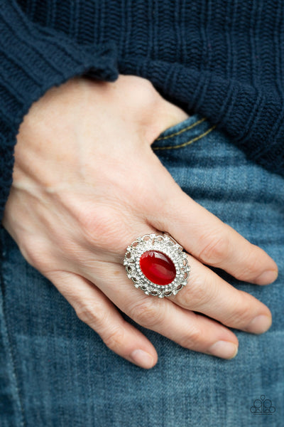 BAROQUE The Spell Paparazzi Ring-Red
