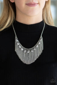 Bragging Rights Paparazzi Necklace-Silver