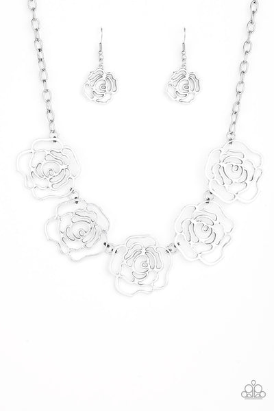 Budding Beauty Paparazzi Necklace-Silver
