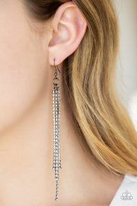 Center Stage Status Paparazzi Earrings-Black