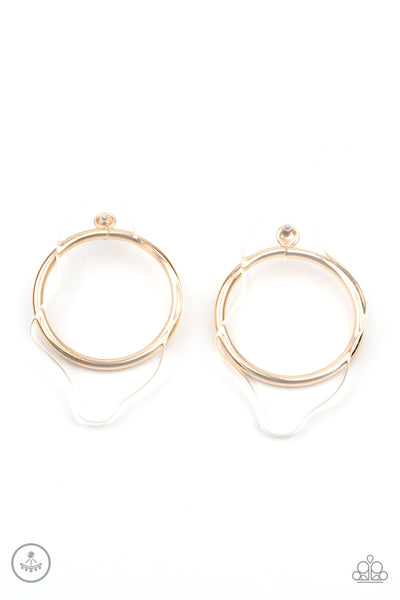 Clear The Way! Paparazzi Earrings-Gold
