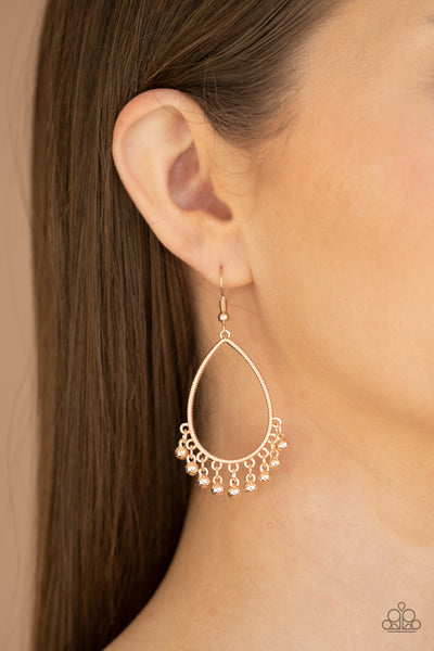 Country Charm Paparazzi Earrings-Rose Gold