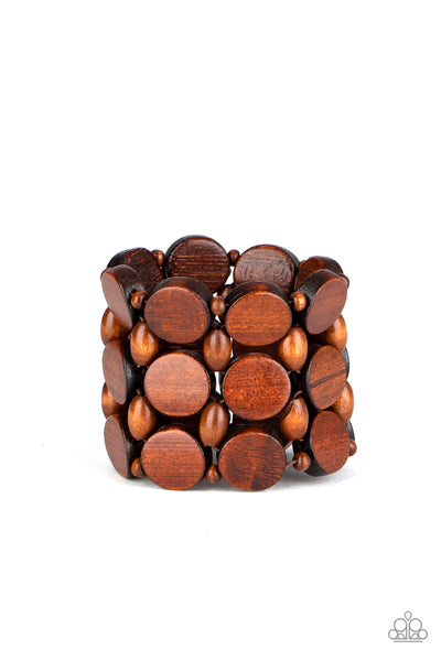 Cruising Coronado Paparazzi Bracelet-Brown