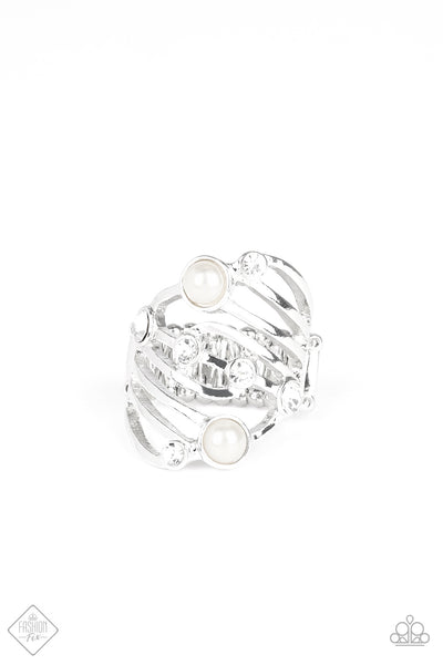 Dancing Diamonds Paparazzi Ring-White