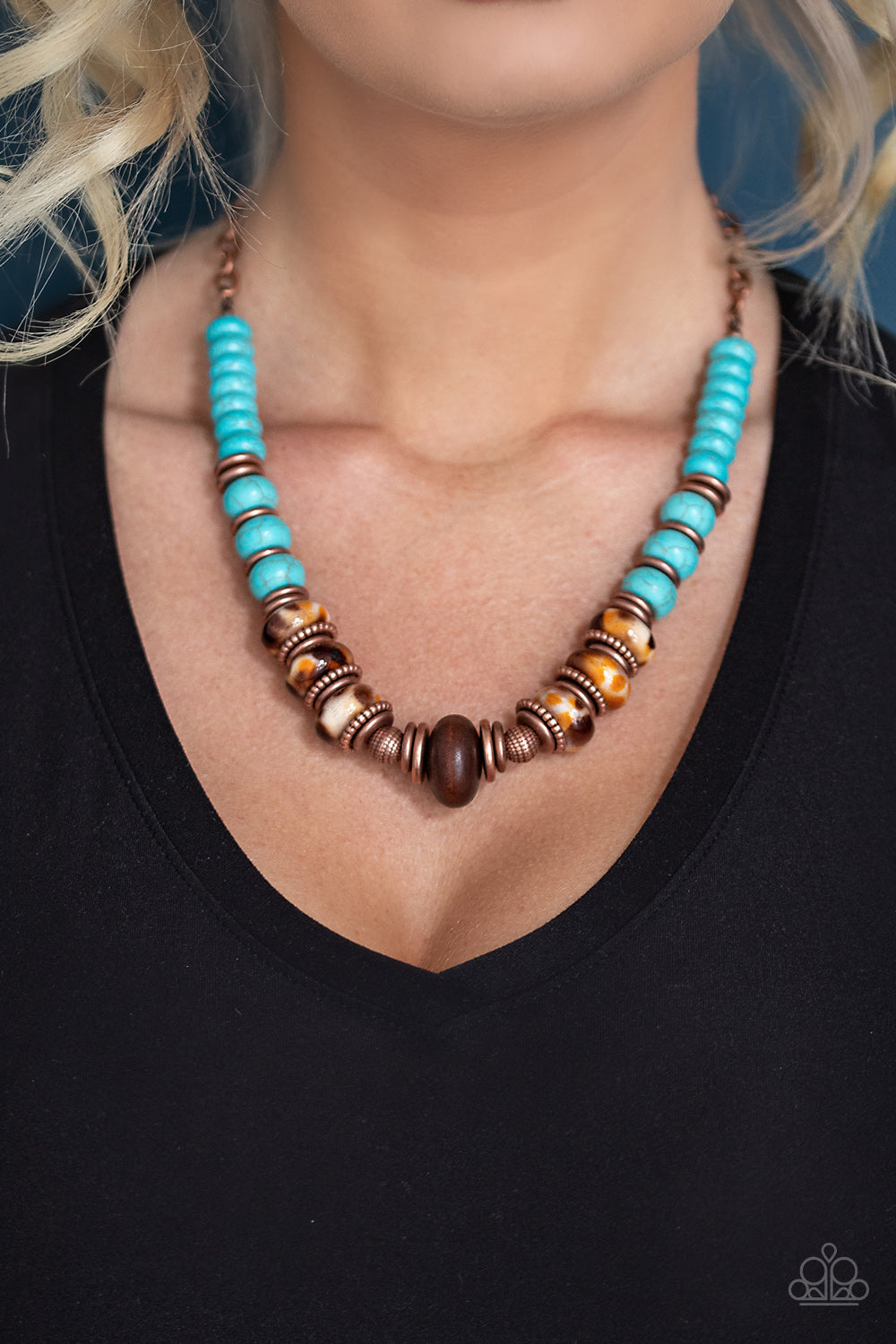 Desert Tranquility Paparazzi Necklace-Copper
