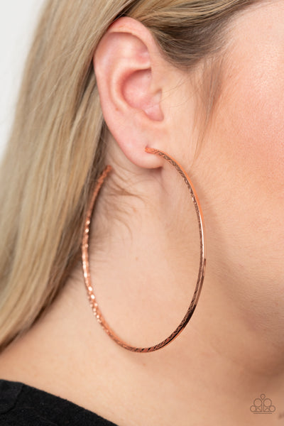 Diamondback Diva Paparazzi Earrings-Copper
