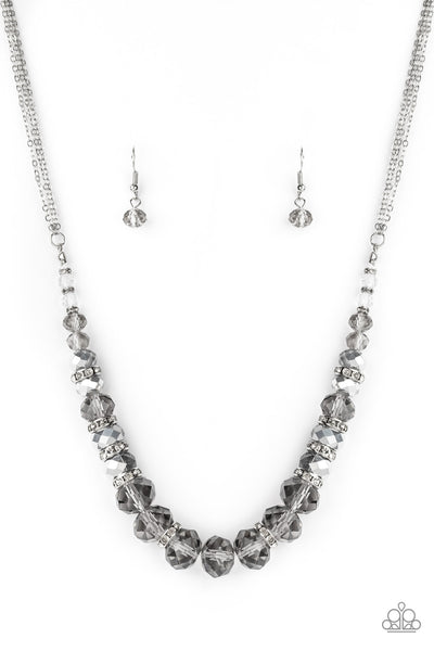 Distracted By Dazzle Paparazzi Necklace-Silver
