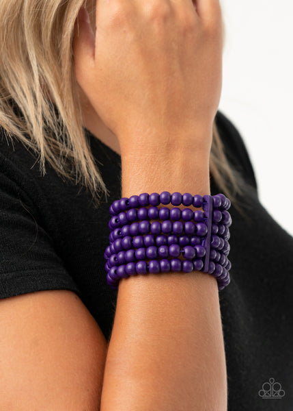 Diving in Maldives Paparazzi Bracelet-Purple