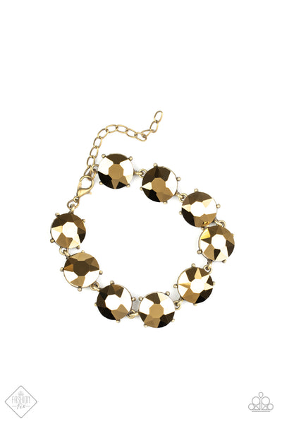 Fabulously Flashy Paparazzi Bracelet-Brass