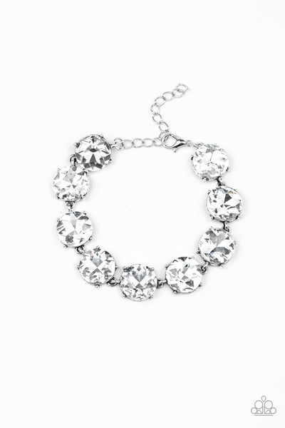 Fabulously Flashy Paparazzi Bracelet-White