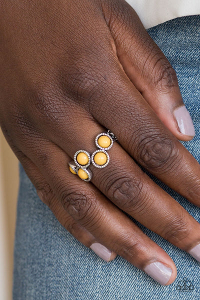 Foxy Fabulous Paparazzi Ring-Yellow
