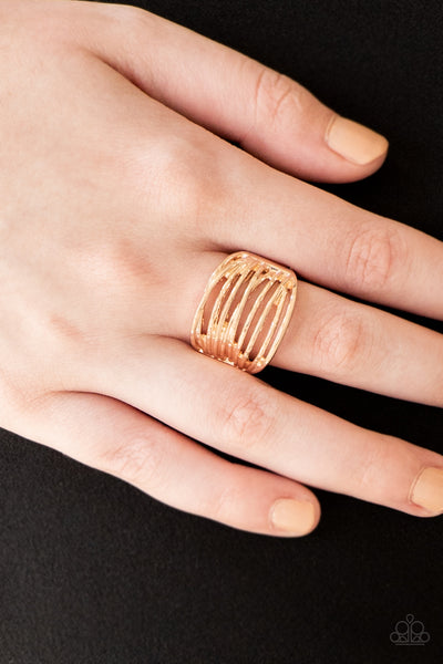 Give Me Space Paparazzi Ring-Rose Gold