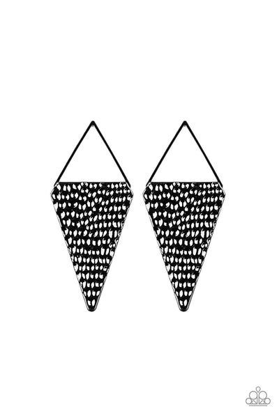 Have A Bite Paparazzi Earrings-Black
