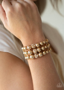 Icing On The Top Paparazzi Bracelet-Gold