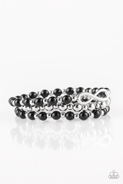 Immeasurably Infinite Paparazzi Bracelet-Black