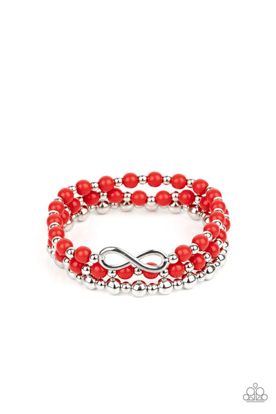 Immeasurably Infinite Paparazzi Bracelet-Red