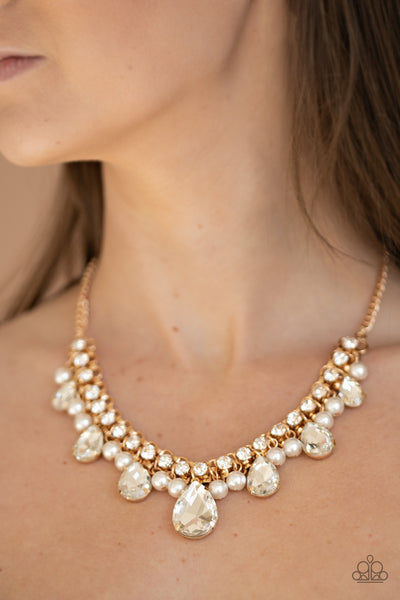 Knockout Queen Paparazzi Necklace-Gold