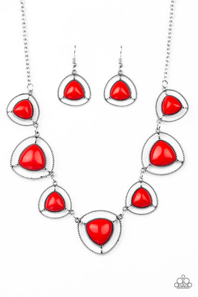 Make A Point Paparazzi Necklace-Red