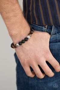 Mantra Paparazzi Bracelet-Brown