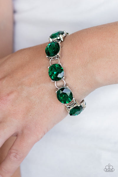 Mind Your Manners Paparazzi Bracelet-Green