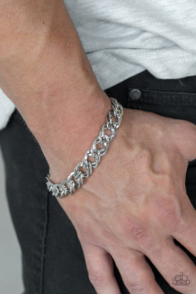 On The Ropes Paparazzi Bracelet-Silver