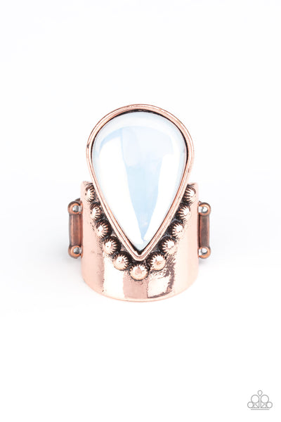 Opal Mist Paparazzi Ring-Copper