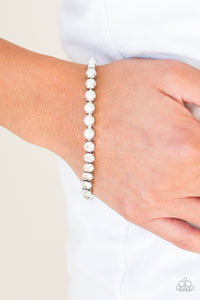 Out Like A SOCIALITE Paparazzi Bracelet-White