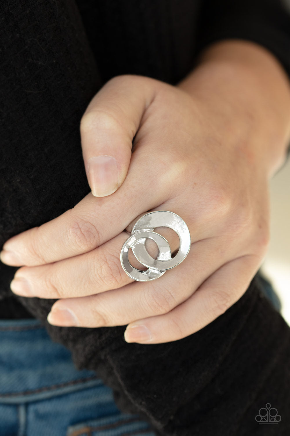 Pro Top Spin Paparazzi Ring-Silver