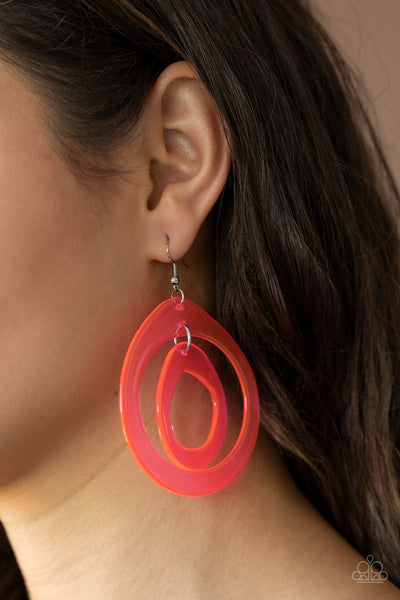 Show Your True NEONS Paparazzi Earrings-Pink