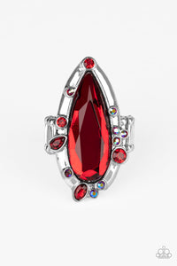 Sparkle Smitten Paparazzi Ring-Red