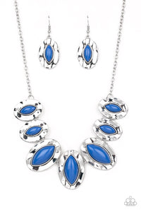 Terra Color Paparazzi Necklace-Blue