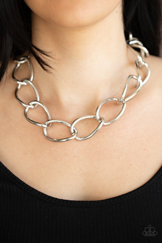 The Challenger Paparazzi Necklace-Silver