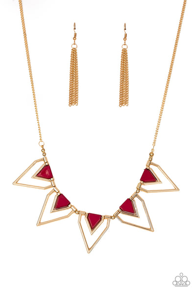 The Pack Leader Paparazzi Necklace-Red