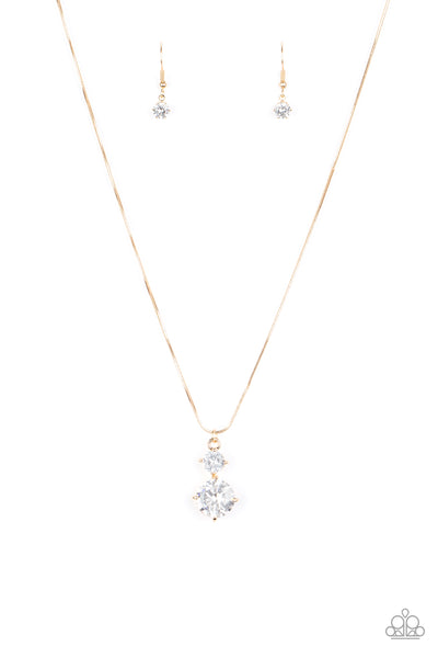 Top Dollar Diva Paparazzi Necklace-Gold