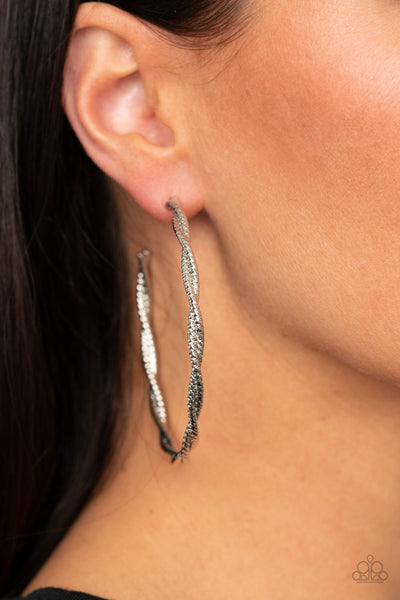 Totally Throttled Paparazzi Earrings-Silver
