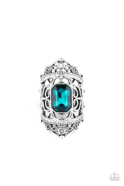 Undefinable Dazzle Paparazzi Ring-Blue