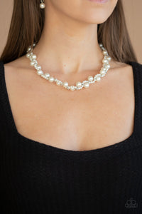 Uptown Opulence Paparazzi Necklace-White