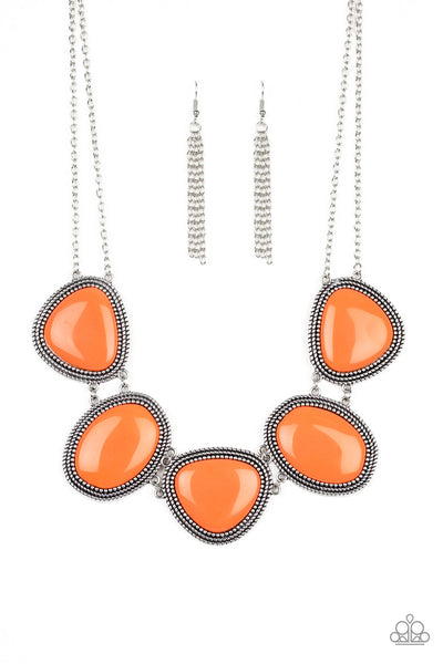 Viva La VIVID Paparazzi Necklace-Orange