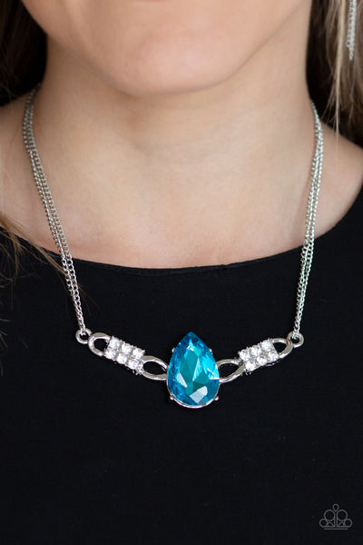 Way To Make An Entrance Paparazzi Necklace-Blue