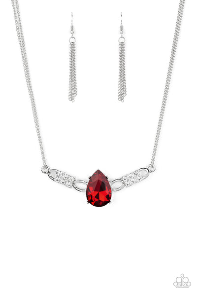 Way To Make An Entrance Paparazzi Necklace-Red