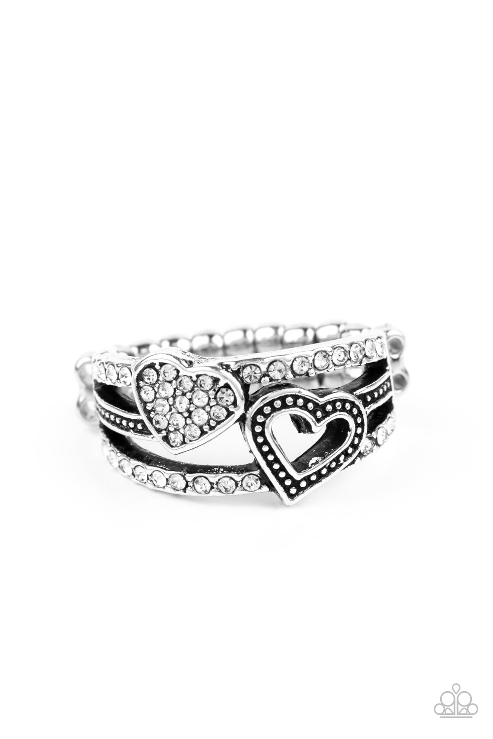You Make My Heart BLING Paparazzi Ring-White