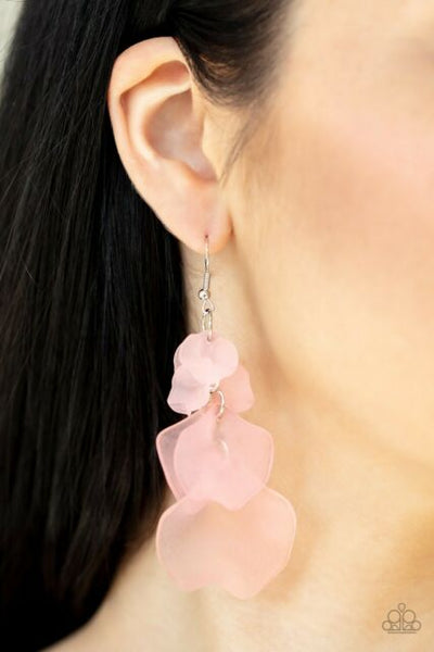 Fragile Florals Paparazzi Earrings-Pink