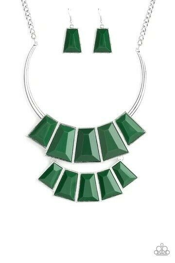 Lions, TIGRESS, And Bears Paparazzi Necklace-Green