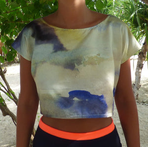 MORNING MIST CROPPED TEE