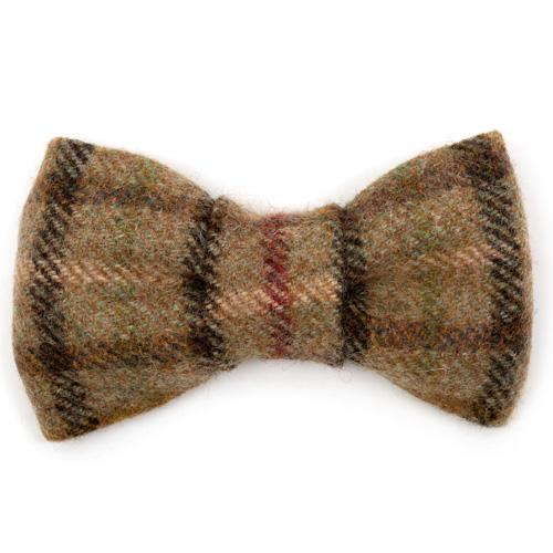 Balmoral Tweed Dog Bow Tie - Mutts & Hounds