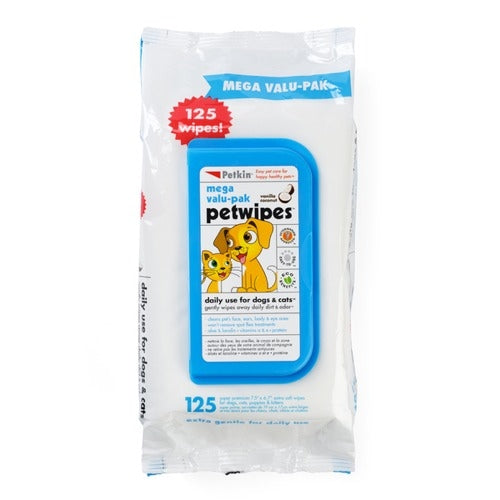 Mega Value Pet Wipes - Petkin